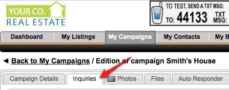 Campaign Inquires Sub tab