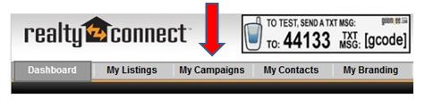 "Realty Connect ""My Campaigns"" Tab"